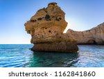 algarve seashore and caves.... | Shutterstock . vector #1162841860