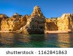 algarve seashore and caves.... | Shutterstock . vector #1162841863