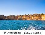 algarve seashore and caves.... | Shutterstock . vector #1162841866
