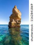 algarve seashore and caves.... | Shutterstock . vector #1162841869