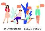 communication between people. | Shutterstock .eps vector #1162844599