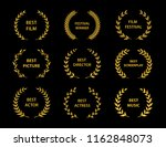 golden vector laurel wreaths on ...   Shutterstock .eps vector #1162848073