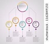 modern vector circle business...   Shutterstock .eps vector #1162849153