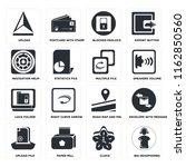 set of 16 icons such as big...
