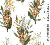 blossom floral seamless pattern.... | Shutterstock .eps vector #1162851679