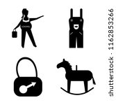 set of 4 vector icons such as... | Shutterstock .eps vector #1162853266