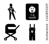 set of 4 vector icons such as... | Shutterstock .eps vector #1162853329
