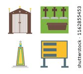 set of 4 vector icons such as... | Shutterstock .eps vector #1162855453