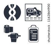 set of 4 vector icons such as...   Shutterstock .eps vector #1162864900