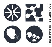 set of 4 vector icons such as... | Shutterstock .eps vector #1162864903