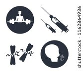 set of 4 vector icons such as... | Shutterstock .eps vector #1162864936