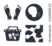 set of 4 vector icons such as... | Shutterstock .eps vector #1162868113