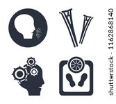 set of 4 vector icons such as... | Shutterstock .eps vector #1162868140