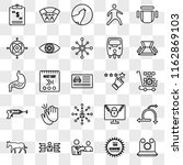 set of 25 transparent icons... | Shutterstock .eps vector #1162869103