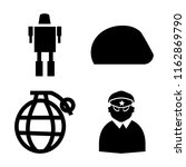 set of 4 vector icons such as... | Shutterstock .eps vector #1162869790