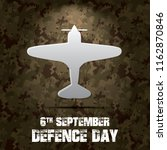 6th september. happy defence... | Shutterstock .eps vector #1162870846