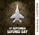 6th september. happy defence... | Shutterstock .eps vector #1162870906