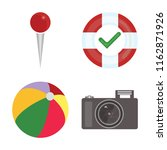 set of 4 vector icons such as... | Shutterstock .eps vector #1162871926