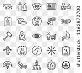 set of 25 transparent icons... | Shutterstock .eps vector #1162872700