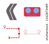 set of 4 vector icons such as... | Shutterstock .eps vector #1162873489