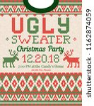 ugly sweater christmas party... | Shutterstock .eps vector #1162874059