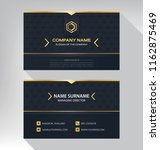 business model name card luxury ... | Shutterstock .eps vector #1162875469