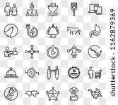 set of 25 transparent icons... | Shutterstock .eps vector #1162879369