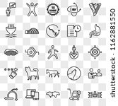 set of 25 transparent icons... | Shutterstock .eps vector #1162881550