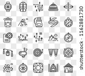 set of 25 transparent icons... | Shutterstock .eps vector #1162881730