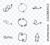 set of 9 transparent icons such ... | Shutterstock .eps vector #1162883413