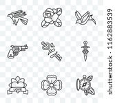 set of 9 transparent icons such ... | Shutterstock .eps vector #1162883539