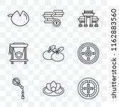 set of 9 transparent icons such ... | Shutterstock .eps vector #1162883560