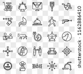 set of 25 transparent icons... | Shutterstock .eps vector #1162886410