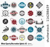 vector set  vintage sports and... | Shutterstock .eps vector #116288659