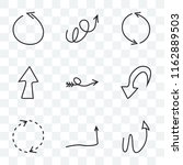 set of 9 transparent icons such ... | Shutterstock .eps vector #1162889503