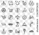 set of 25 transparent icons... | Shutterstock .eps vector #1162892620