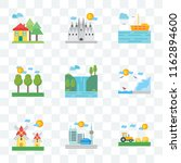 set of 9 transparent icons such ...   Shutterstock .eps vector #1162894600
