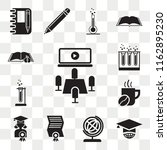 set of 13 transparent icons...