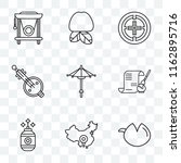 set of 9 transparent icons such ... | Shutterstock .eps vector #1162895716