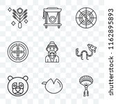 set of 9 transparent icons such ... | Shutterstock .eps vector #1162895893