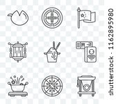 set of 9 transparent icons such ... | Shutterstock .eps vector #1162895980