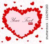 heart frame. valentine card....   Shutterstock .eps vector #116290183