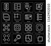 set of 16 icons such as overlap ...