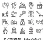 set of 20 icons such as... | Shutterstock .eps vector #1162902106