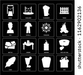 set of 16 icons such as gift ...