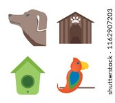 set of 4 vector icons such as... | Shutterstock .eps vector #1162907203