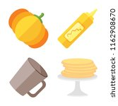 set of 4 vector icons such as... | Shutterstock .eps vector #1162908670