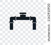 pipe vector icon isolated on... | Shutterstock .eps vector #1162910920
