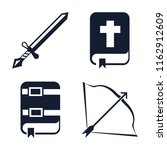 set of 4 vector icons such as... | Shutterstock .eps vector #1162912609