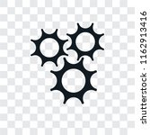 cogwheel vector icon isolated... | Shutterstock .eps vector #1162913416